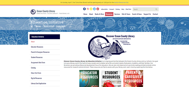 Ocean County CMS Website