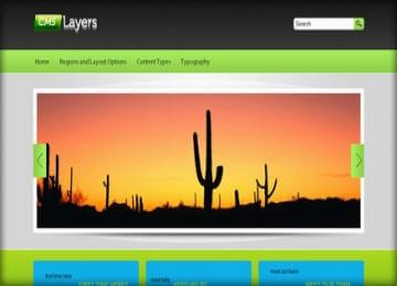 CMS Layers drupal 7 free theme